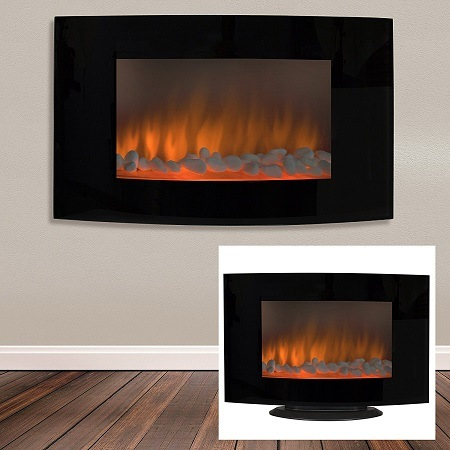 Best Choice Products Large heat adjustable electric wall mount & free standing fireplace heater