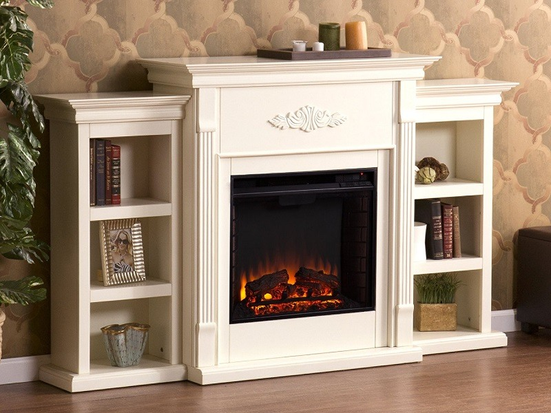 Great Southern Enterprises Tennyson Electric Fireplace With Bookcases