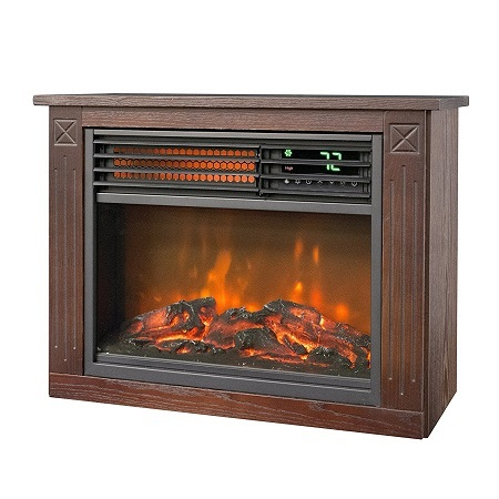 Lifesmart Large Room infrared quartz fireplace in burnished oak finish