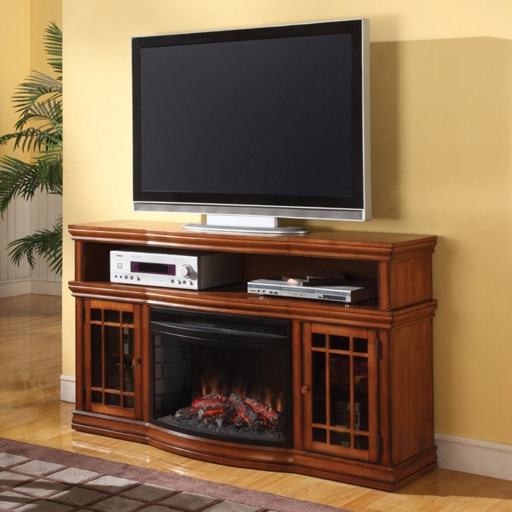 Dwyer 57-inch TV Stand with Electric Fireplace