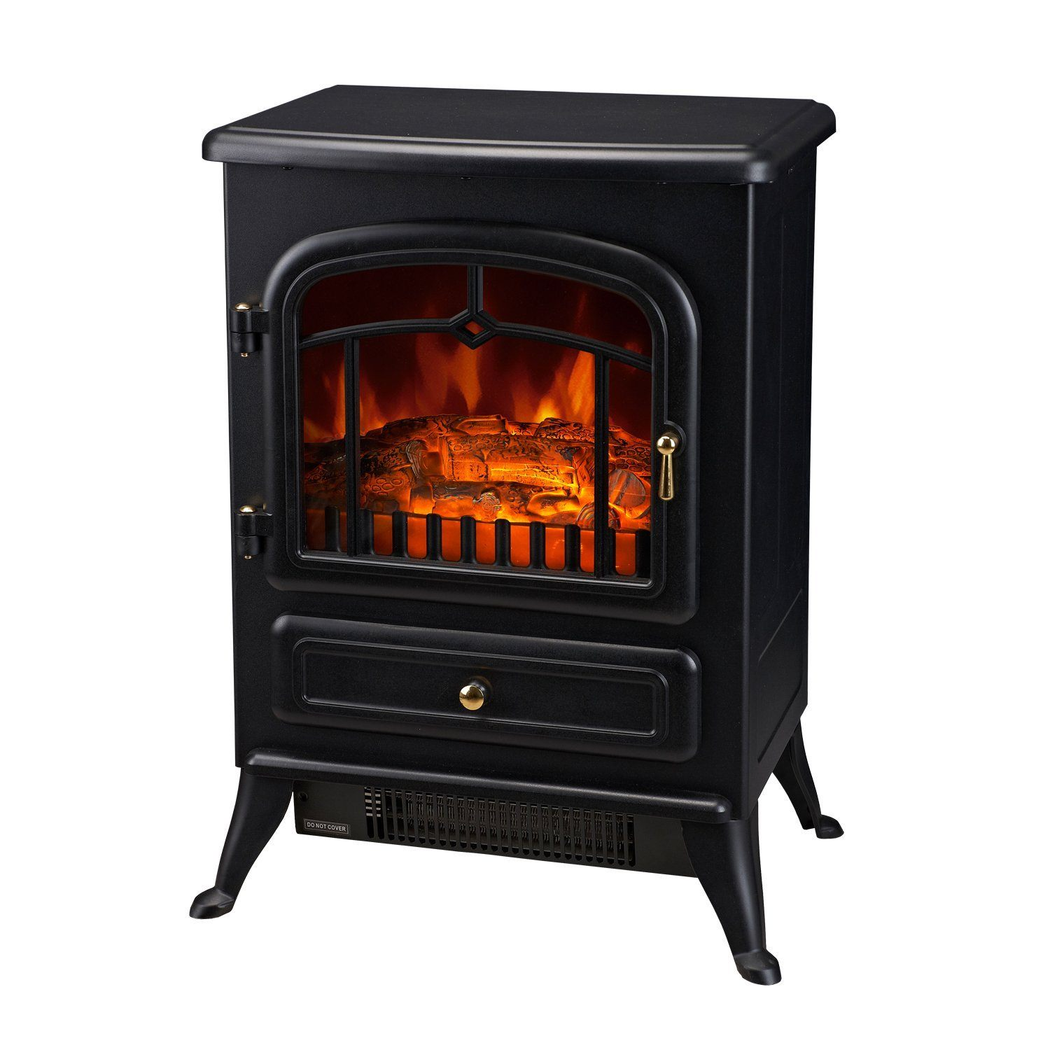 HomCom Electric Wood Stove Fireplace Heater