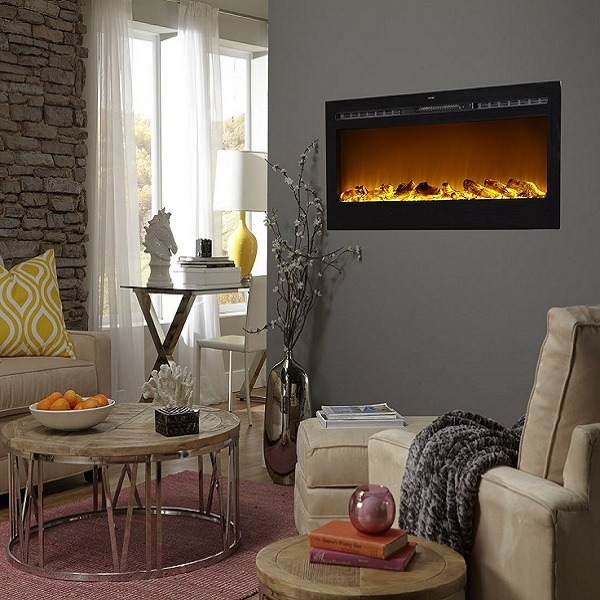 LED Wall Mounted Electric Fireplaces