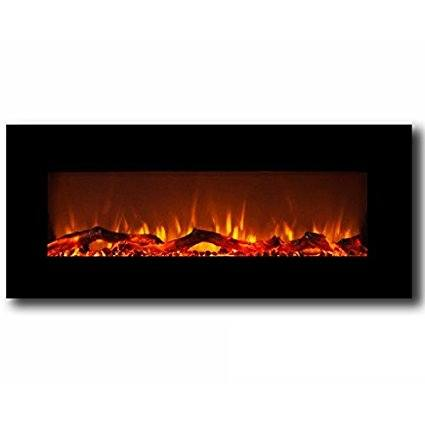 Moda Flame Houston 50-inch Electric Wall-Mounted Fireplace