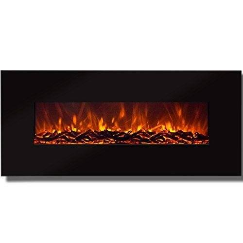 Touchstone 50-inch Onyx Electric Wall-Mounted Fireplace with Heater